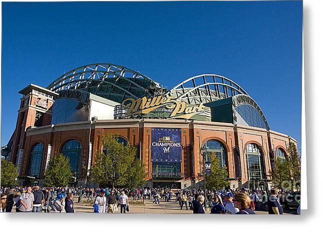 0386 Miller Park Milwaukee Greeting Card by Steve Sturgill