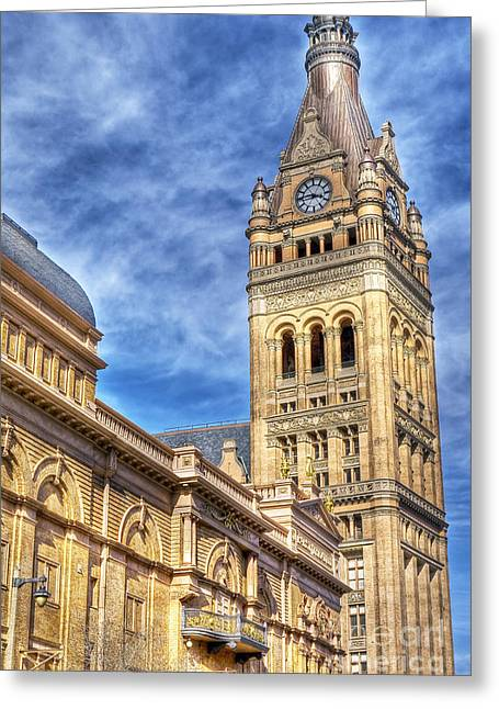 City Hall Greeting Cards - 0410 Milwaukee City Hall Greeting Card by Steve Sturgill