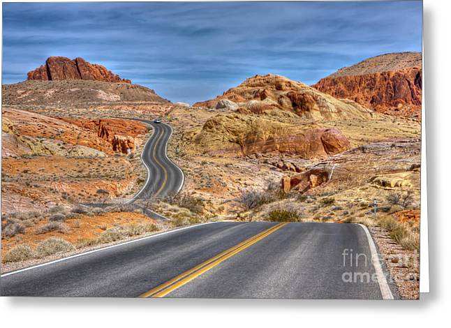 Road Travel Greeting Cards - 0445 Valley of Fire Nevada Greeting Card by Steve Sturgill