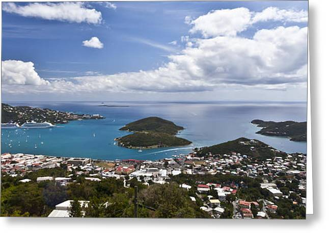 Panoramic Ocean Photographs Greeting Cards - 0457 St Thomas US Virgin Islands Greeting Card by Steve Sturgill
