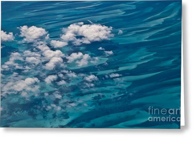 Arial Greeting Cards - 0458 Above the Caribbean Greeting Card by Steve Sturgill
