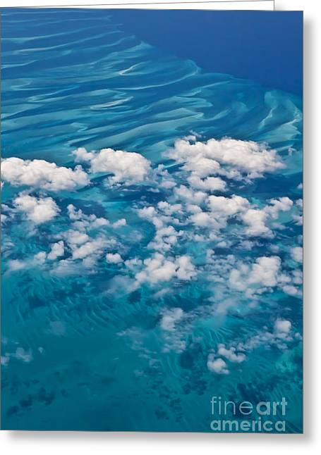 Arial Greeting Cards - 0459 Above the Caribbean Greeting Card by Steve Sturgill
