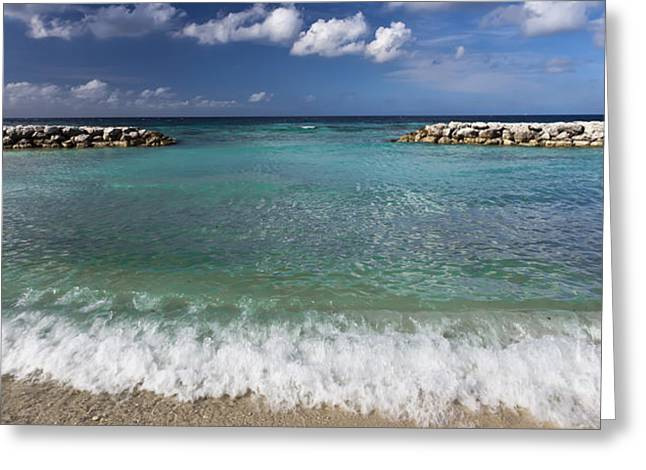 Panoramic Ocean Greeting Cards - 0460 DePalm Island Aruba Greeting Card by Steve Sturgill
