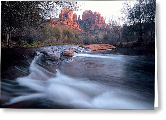 Cathedral Rock Greeting Cards - 0463 Sedona Arizona Greeting Card by Steve Sturgill