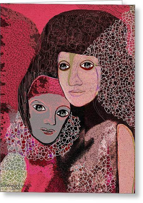 Pastell Greeting Cards - 047 - To lean on   ... Greeting Card by Irmgard Schoendorf Welch