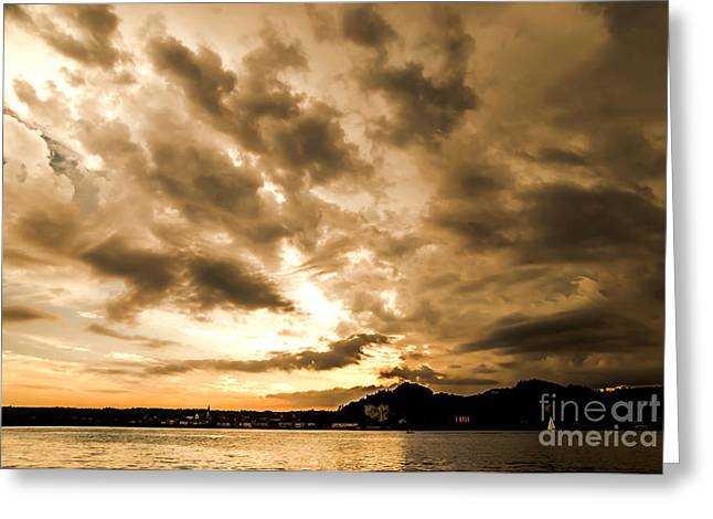 Arona Greeting Cards - Sunset Drama Greeting Card by Mirari  Photography