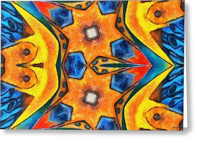 Geometric Digital Art Greeting Cards - 0502 Greeting Card by I J T  Son Of Jesus