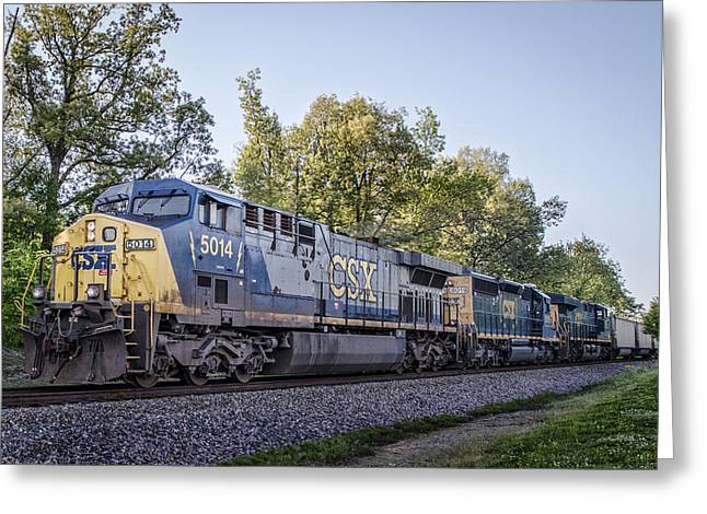 05.06.14 - Csx 5014 At Madisonville Ky Greeting Card by Jim Pearson