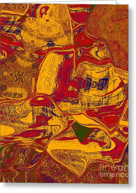 0518 Abstract Thought Greeting Card by Chowdary V Arikatla