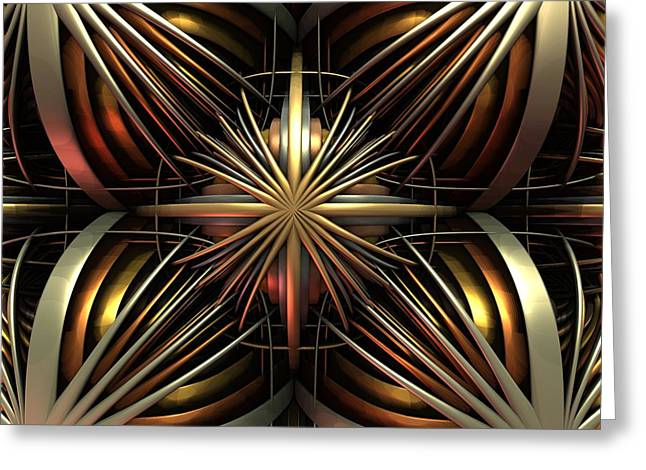 Classical Gold Mixed Media Greeting Cards - 0530 Greeting Card by I J T  Son Of Jesus