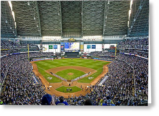 0545 Nlds Miller Park Milwaukee Greeting Card by Steve Sturgill