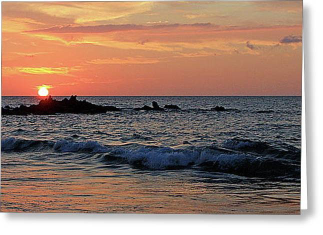 ; Maui Greeting Cards - 0581 Maui Sunset 2 Greeting Card by Steve Sturgill