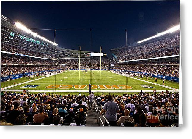 0588 Soldier Field Chicago Greeting Card by Steve Sturgill