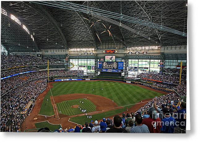 Miller Park Greeting Cards - 0611 Miller Park Greeting Card by Steve Sturgill