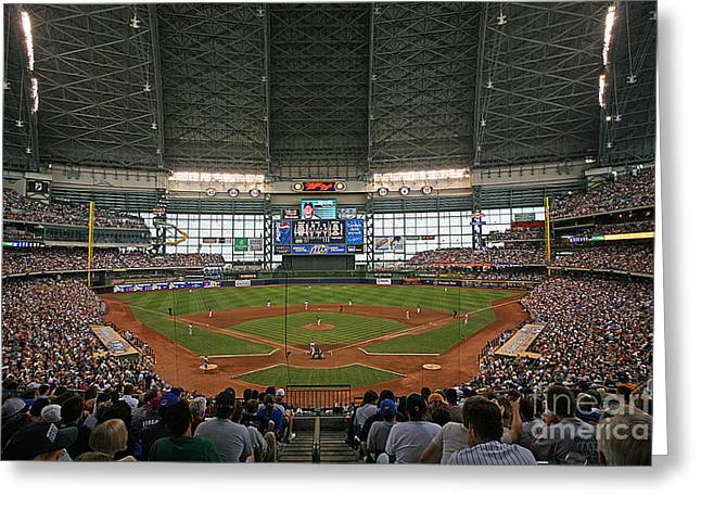 Miller Park Greeting Cards - 0612 Miller Park Greeting Card by Steve Sturgill