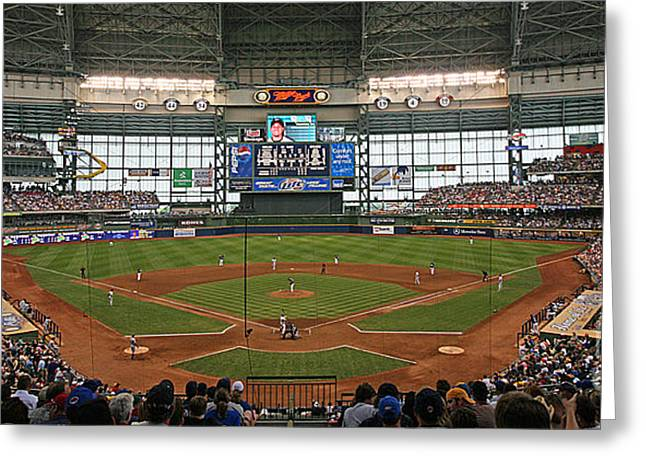 Miller Park Greeting Cards - 0613 Miller Park Greeting Card by Steve Sturgill