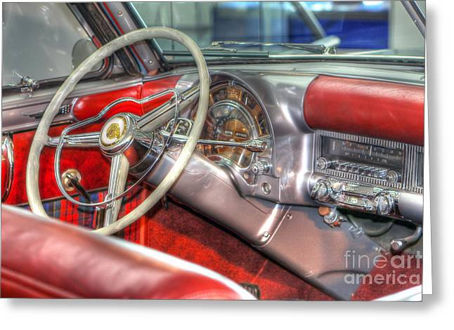 Dash-board Greeting Cards - 0671 Chrysler Classic Greeting Card by Steve Sturgill