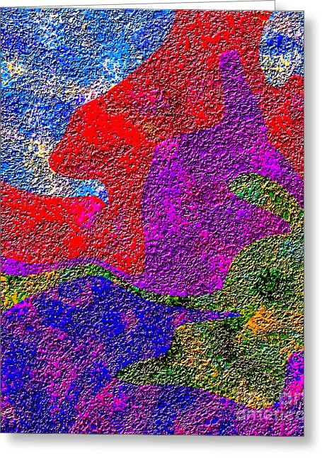0732 Abstract Thought Greeting Card by Chowdary V Arikatla