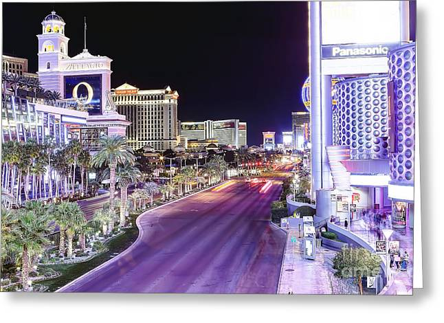 Caesars Palace Greeting Cards - 0745 Las Vegas Boulevard Greeting Card by Steve Sturgill