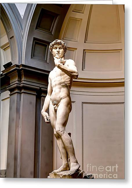 0768 Statue Of David Greeting Card by Steve Sturgill