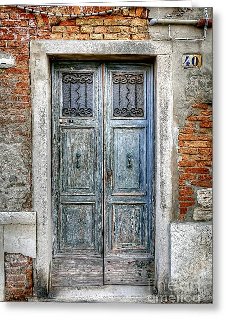 Venetian Door Greeting Cards - 0778 Murano Italy Greeting Card by Steve Sturgill
