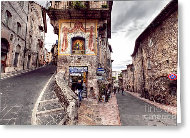 0801 Assisi Italy Greeting Card by Steve Sturgill