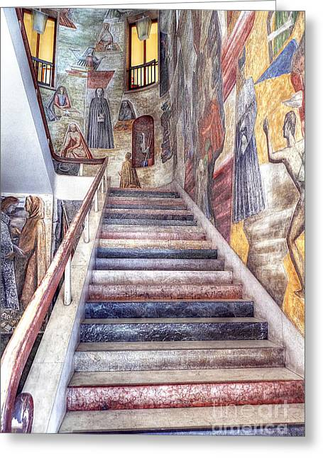 Padua Greeting Cards - 0802 Padua Staircase Greeting Card by Steve Sturgill
