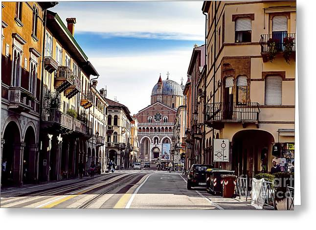 Padua Greeting Cards - 0804 Basilica of Saint Anthony of Padua Greeting Card by Steve Sturgill