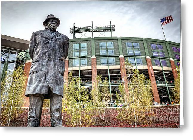 0853 Lombardi Statue Greeting Card by Steve Sturgill
