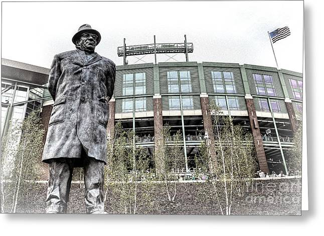 0855 Lombardi Statue Greeting Card by Steve Sturgill