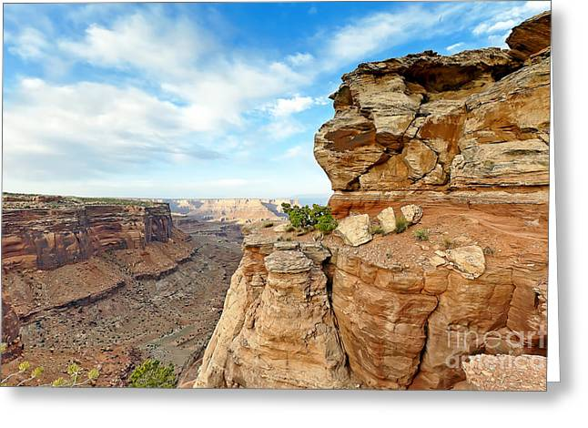 Canyon Lands Greeting Cards - 0887 Canyonland National Park Greeting Card by Steve Sturgill