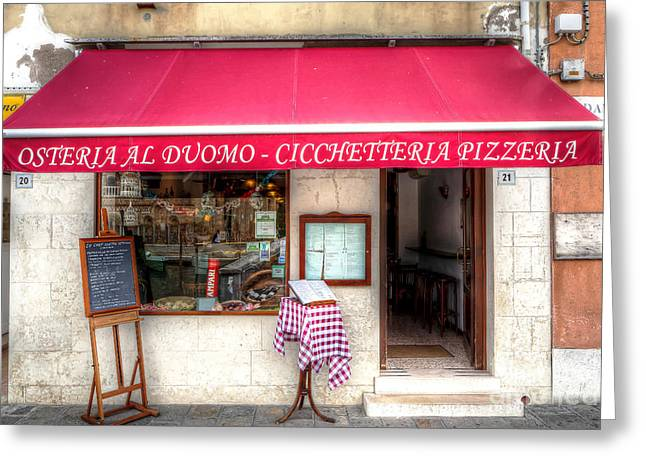 0902 Murano Pizzaria Greeting Card by Steve Sturgill