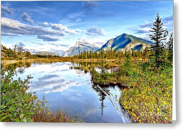 Rundle Greeting Cards - 0908 Vermillion Lake  Greeting Card by Steve Sturgill