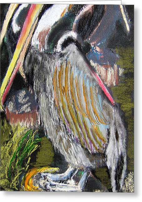 Louisiana Pastels Greeting Cards - 090914 Pelicans Greeting Card by Garland Oldham