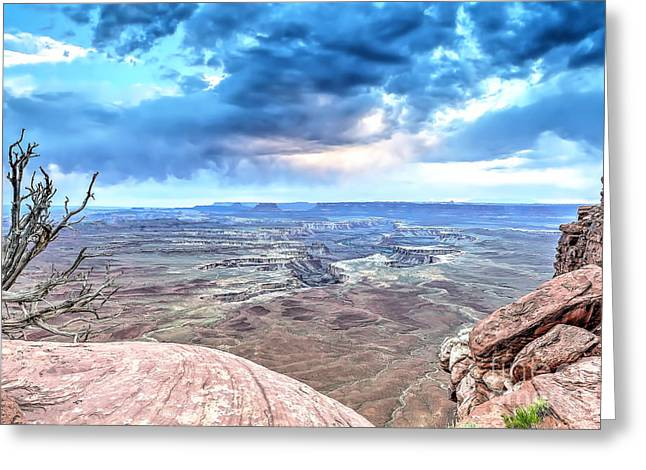 Clouds Over Canyon Greeting Cards - 0916 Green River Overlook Greeting Card by Steve Sturgill