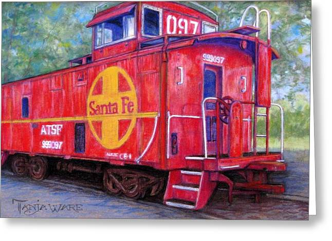 Caboose Greeting Cards - 097 Greeting Card by Tanja Ware