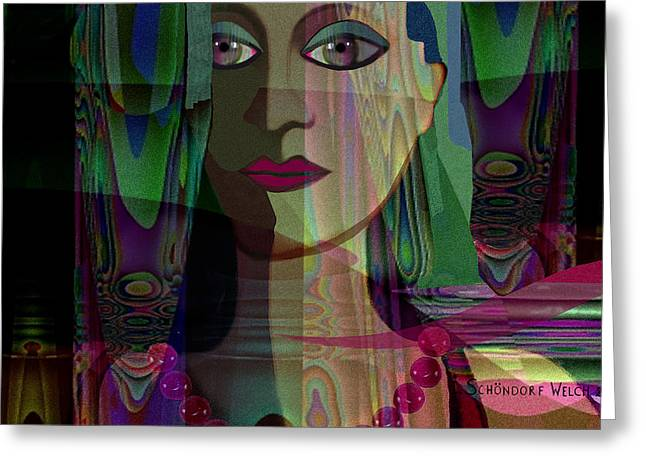 Pensive Digital Greeting Cards - 098 -  Pride ... Greeting Card by Irmgard Schoendorf Welch