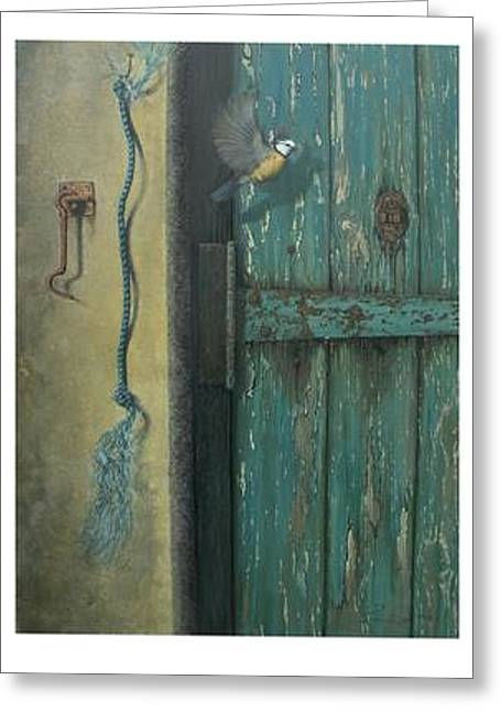 Steven Wood Greeting Cards - 0ld Door Greeting Card by Steven Wood