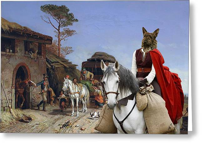 Picard Greeting Cards -  Berger Picard - Picardy Shepherd Art Canvas Print Greeting Card by Sandra Sij