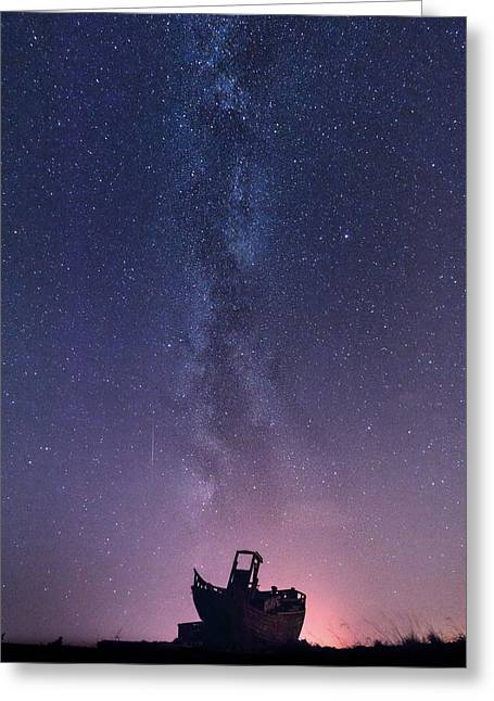 Dungeness Greeting Cards -  Dungeness under the Milky Way  Greeting Card by Ian Hufton