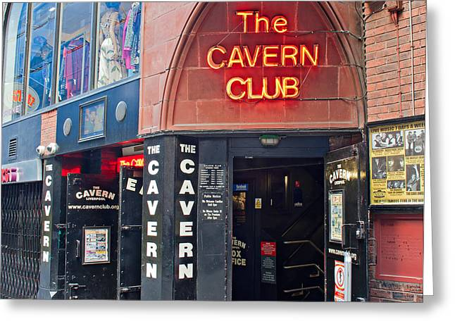Cavern Club . Greeting Cards -  Entrance to the Cavern Club in Mathew St Liverpool Greeting Card by Ken Biggs