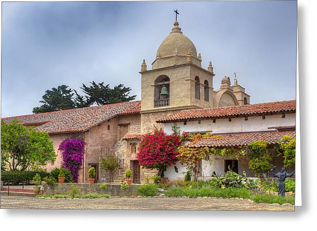 Facade Of The Chapel Mission San Carlos Borromeo De Carmelo Greeting Card by Ken Wolter