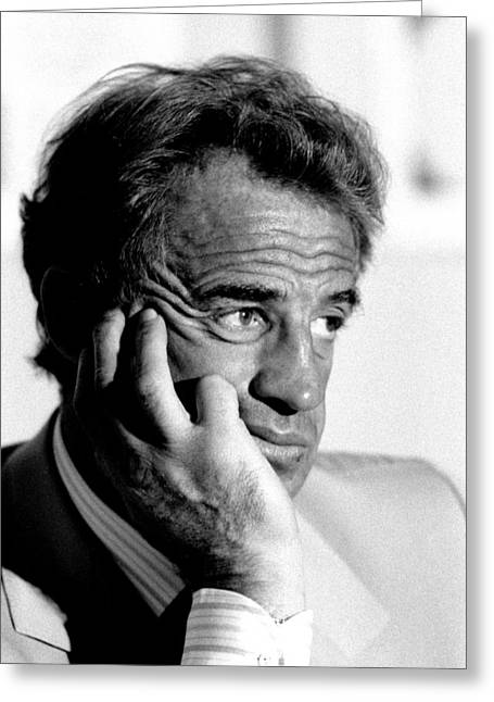 Quebec Conference Greeting Cards -  Jean-Paul Belmondo Greeting Card by Pierre Roussel
