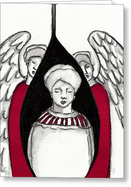 Saint Hope Paintings Greeting Cards -  Keepers No 4 Greeting Card by Milliande Demetriou