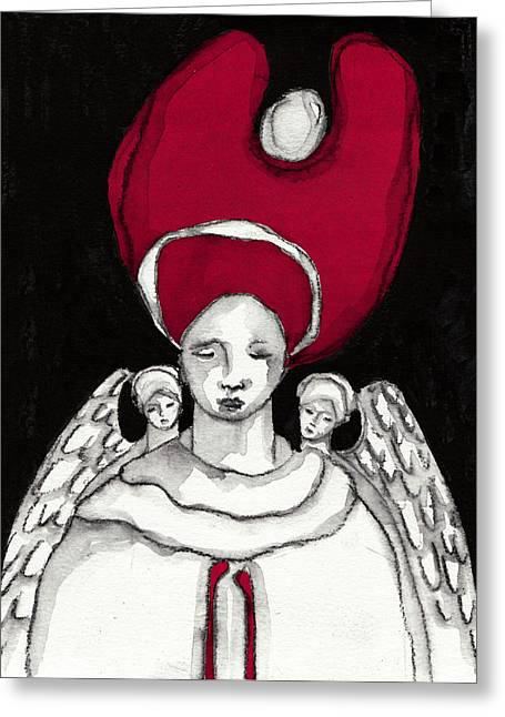 Saint Hope Paintings Greeting Cards -  Keepers No 8 Greeting Card by Milliande Demetriou