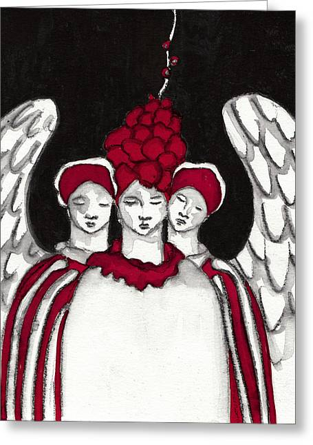 Saint Hope Paintings Greeting Cards -  Keepers No 9 Greeting Card by Milliande Demetriou