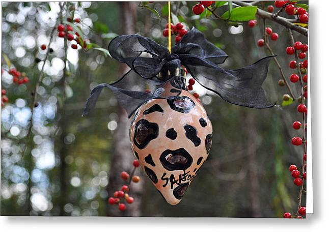 Majolica Maiolica Ornament Greeting Card by Amanda  Sanford