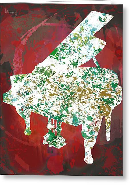 Pop Music Mixed Media Greeting Cards -  Music  stylised drawing art poster Greeting Card by Kim Wang