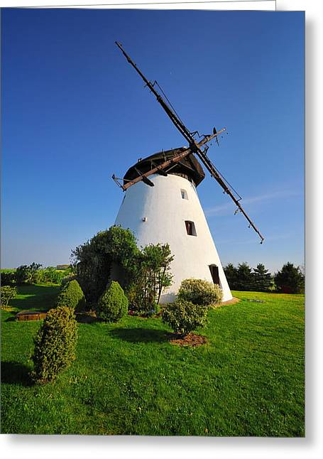Historic Home Greeting Cards -  Windmill Greeting Card by Jan Sieminski