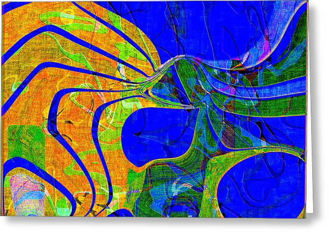 0565 Abstract Thought Greeting Card by Chowdary V Arikatla